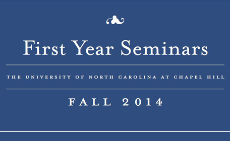 Fall 2014 First-Year Seminars Brochure
